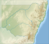 Location map Australia New South Wales is located in New South Wales