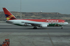 Un Boeing 767-200 dell'Avianca