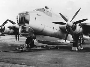 Airborne lifeboat - Saunders-Roe Mark 3 airborne lifeboat fitted underneath an Avro Shackleton