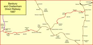 Banbury and Cheltenham Direct Railway - The Banbury and Cheltenham Direct Railway in 1887