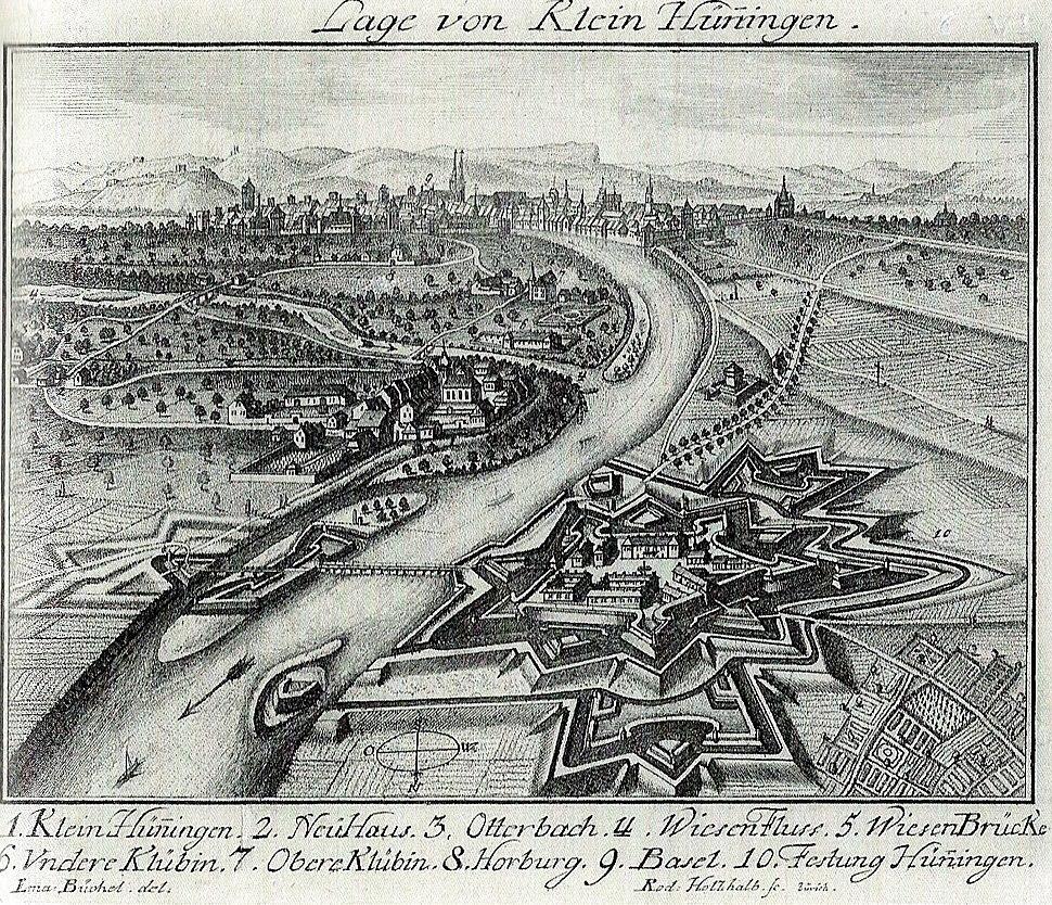 Büchel Festung Hüningen 1749