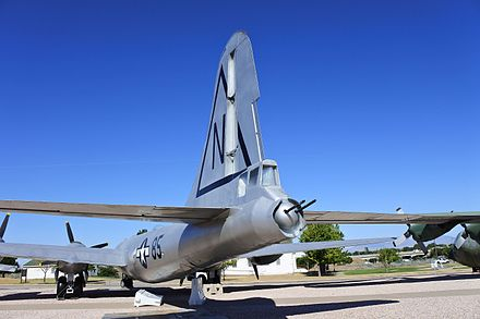 Tail armament, B-29 Superfortress, Hill Aerospace Museum. B29 55 MO tail HAFB.jpg