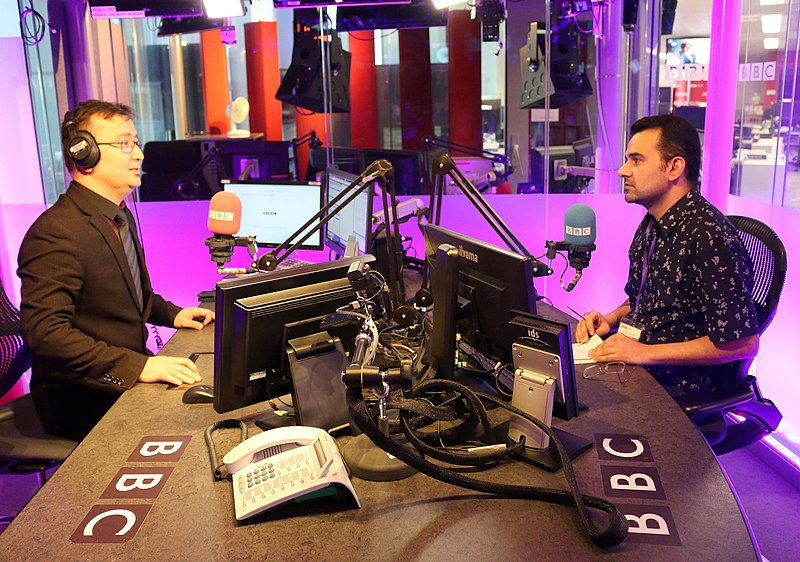 File:BBC Persian's Dariush Rajabian Interviews Pejman Akbarzadeh - London May 2019.jpg Description English: BBC Persian Service's Dariush Rajabian Interviews Pejman Akbarzadeh at the BBC radio studio in London - Photo: Persian Dutch Network