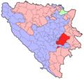 BH municipality location Istocno Sarajevo.png