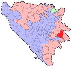 Location o Rogatica athin Republika Srpska
