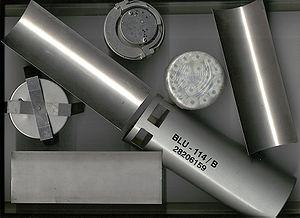 Graphite bomb - Image: BLU 114