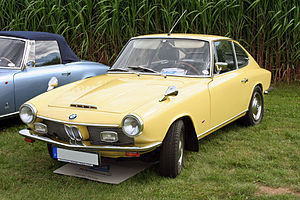 Glas GT - From summer 1967, during its final year the Glas GT faced the world with a BMW badge and grill, reflecting its adoption of BMW rear suspension and a BMW engine