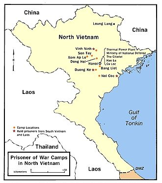 Operation Homecoming - Locations of POW camps in North Vietnam