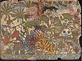 Babhruvahana Kills Animals to Save Syamakarna (recto), Babhruvahana Faces Arjuna's Army with Syamakarna (verso), Scenes from the Story of Babhruvahana, Folio from a Mahabharata ((War of the) LACMA M.80.231.3a-b (1 of 2).jpg