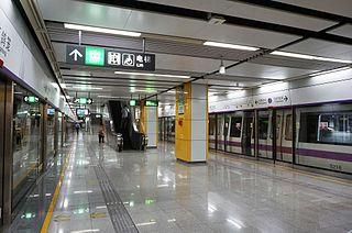 Baigelong station Metro station in Shenzhen, China