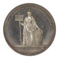 Baksida av medalj med bild av moder Svea, 1810 - Skoklosters slott - 99575.tif