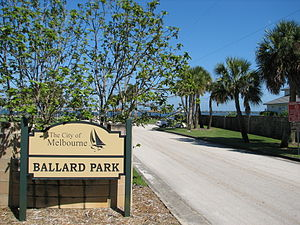 Ballard Park sign, Melbourne, Florida.jpg