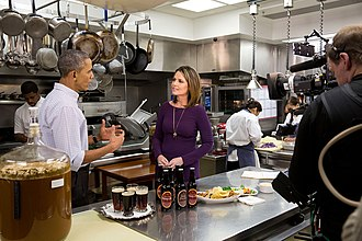 Savannah Guthrie - Guthrie interviews Barack Obama in the White House kitchen for a Super Bowl XLIX pre-game show
