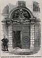 Barber-surgeons' Hall, Monkwell Street, London; the door of Wellcome V0013088ER.jpg