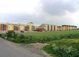Barrandov - West part of Barrandov housing estate in Hlubočepy, Prague – view from Holyně