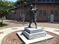 Baseball player statue at J.P. Small Park.JPG