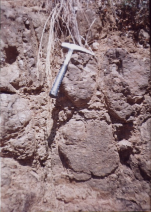 Batoka Formation - Pillow lavas in Batoka Basalt, Siyakobvu, Kariba District, Zimbabwe