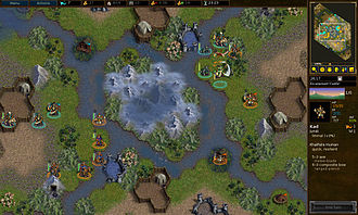 Turn-based strategy - The Battle for Wesnoth is an open source turn-based strategy game.