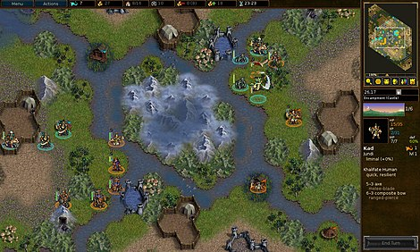 The Battle for Wesnoth is a turn-based strategy game. Battle for wesnoth version 1.12.0 screenshot.jpg