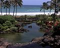 Beach at Poipu, as seen from the Hyatt Hotel, Poipu, Kauai, June 2009 - panoramio.jpg