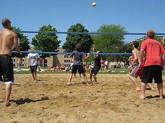 Goshen College - Goshen College intramural volleyball