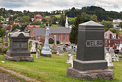 Overview from the community cemetery