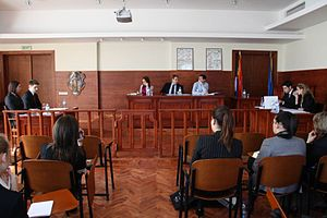 University of Belgrade Faculty of Law - Moot Court room