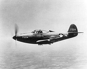 Un P-39 de l'USAF en vol