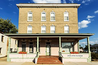 National Register of Historic Places listings in Columbia County, Wisconsin - Image: Belmont Hotel (Pardeeville, Wisconsin) September 2013 02