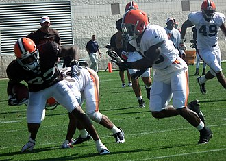 Benjamin Watson - Watson (far left) in Browns training camp in 2012