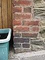 Bench mark on The Lodge, Camp Lane - geograph.org.uk - 2535140.jpg