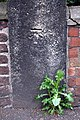 Benchmark on stone gatepost of St Denys Walmgate Church - geograph.org.uk - 2362075.jpg