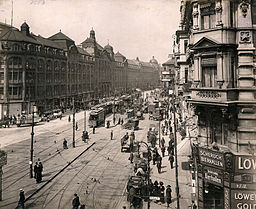 Berlin Alexanderstraße mit Kaufhaus Tietz 1912-05-04