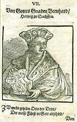 Bernhard II., Sachsen, Herzog