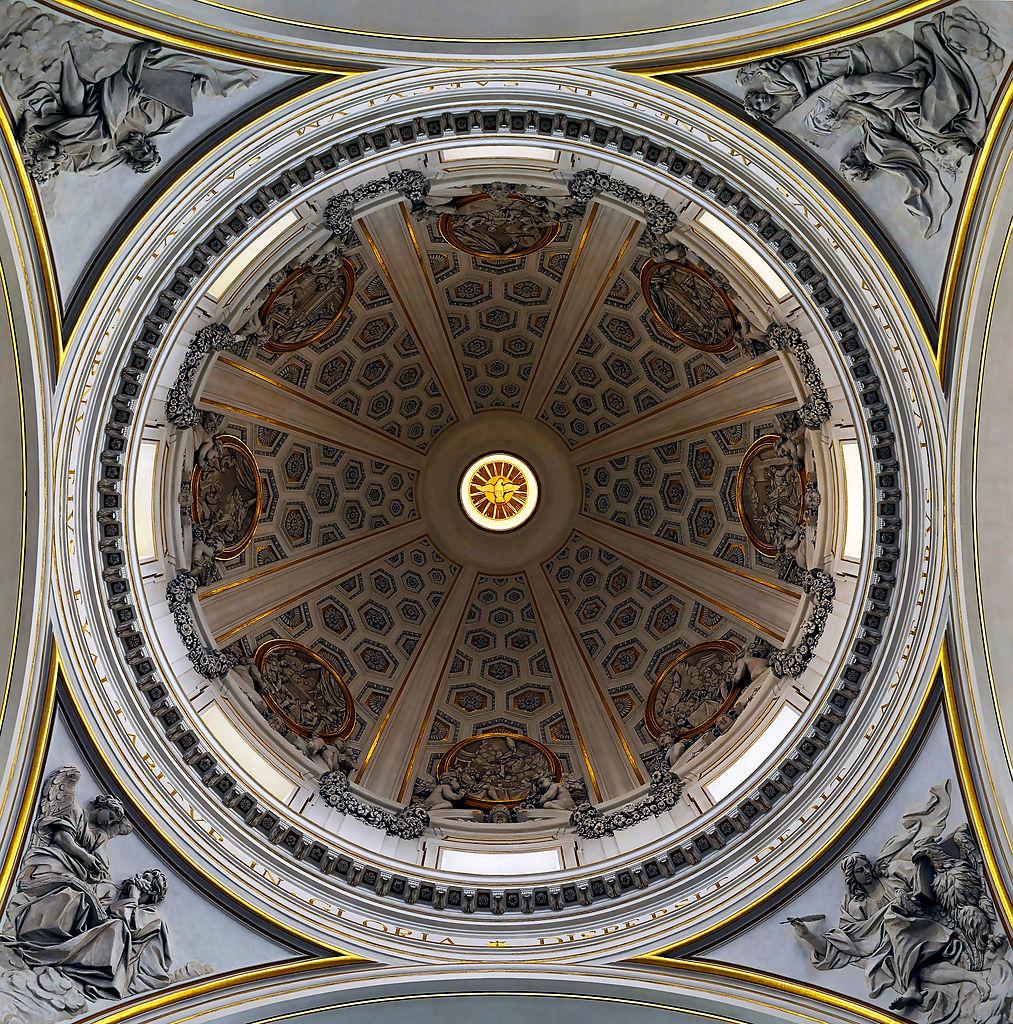 Dome de Bernini à la Collegiata de San Thomas à Castel Gandolfo -Photo de Livioandronico2013