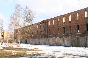 Bereza Kartuska prison - Former prison building in 2010, to be reconstructed