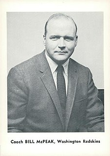Bill McPeak American football player and coach