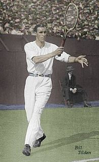 Bill Tilden American tennis player