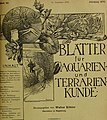 Blätter für Aquarien- und Terrarien-Kunde (1905) (20201548449).jpg