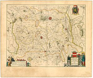 Siege of Leuven - Map of Brabant in 1645 by Joan Blaeu.
