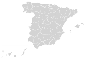 Blank Spain Map (Provinces).svg