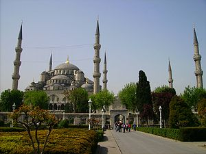 Blue Mosque, Istanbul, Turkey from garden 2007.JPG