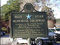 Blue Star Memorial Highway Marker, Monroe County.JPG