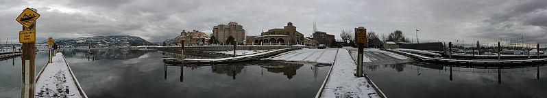 File:Boat ramp beside the Kelowna Yaght Club in snow Panorama2.jpg