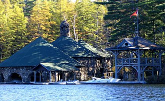 Upper St. Regis Lake - Image: Boathouse at Katja