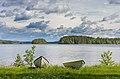 Boats at Kärkistensalmi on Tahkosaari, Jyväskylä, Central Finland, 2021 June.jpg