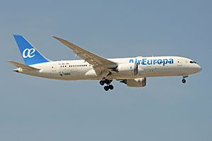 Air Europa - Air Europa Boeing 787-8 on approach to Madrid-Barajas airport