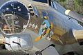 Boeing B-17G-85-DL Flying Fortress Nine-O-Nine Landing Taxi Closeup NoseArt CFatKAM 09Feb2011 (14983563102).jpg