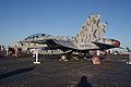 Boeing FA-18F Super Hornet Tigerstripe LSideRear MacDill AirFest 5Oct2011 (14697272654).jpg