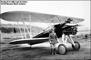 Boeing P-12 - Boeing P-12 with Captain Ira Eaker